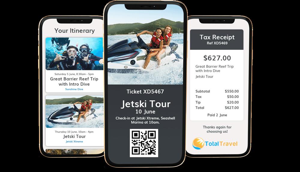 Hero digital Itineraries, Tickets & Receipts